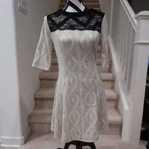 3/4 Sleeve Dress with Lace detail